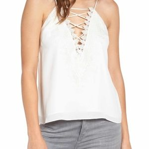 NWT WAYF Off White Posie Lace Camisole Size S